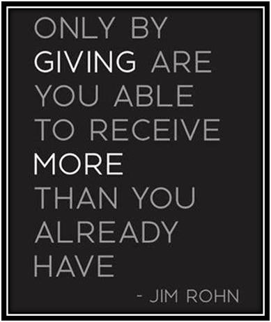 by giving you receive more