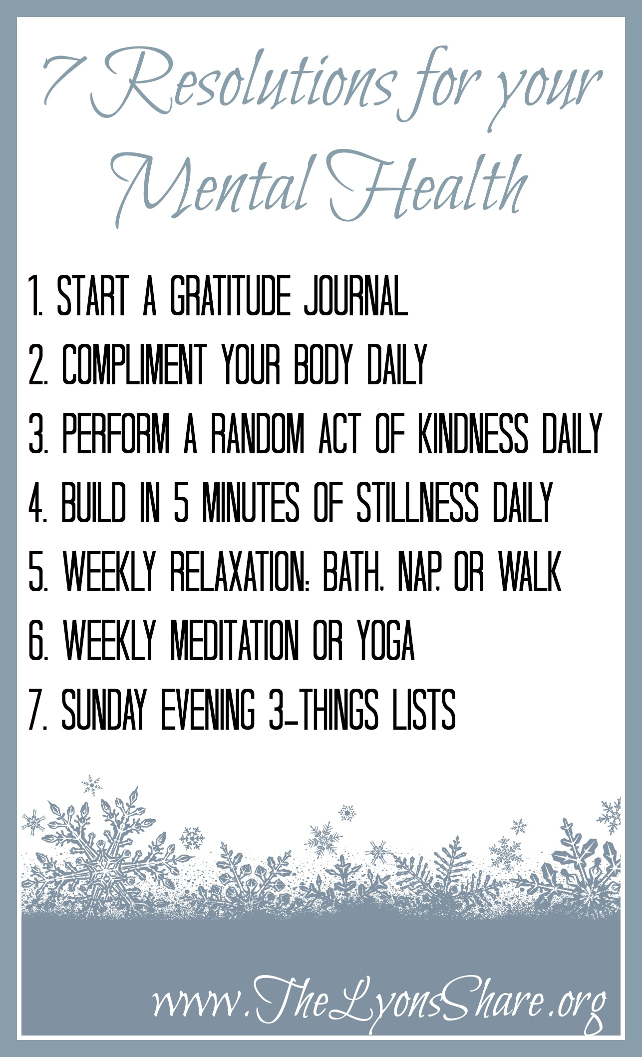 New Year S Resolutions For Your Mental Health