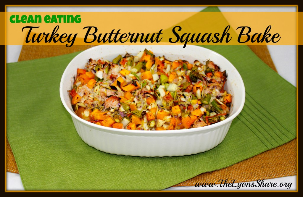clean eating turkey butternut squash bake