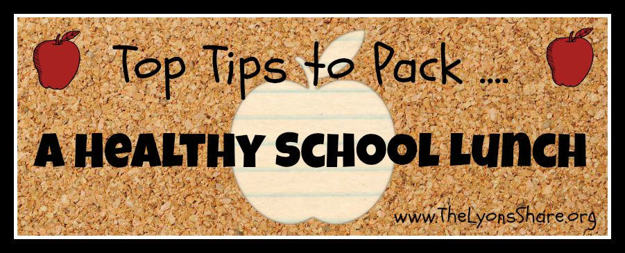 pack a healthy school lunch