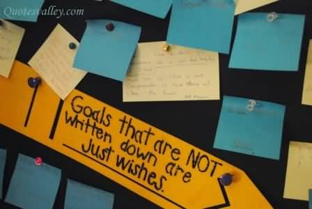 goals that are not written down