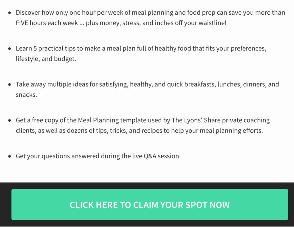 details of meal planning mastery webinar