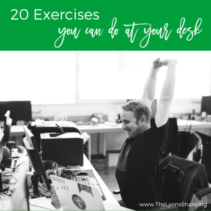 20 exercises you can do at your desk