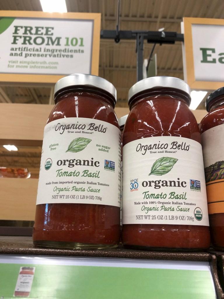 Organico Bello marinara sauce