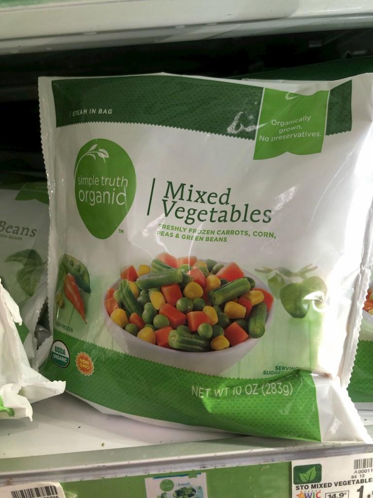 Kroger frozen veggies