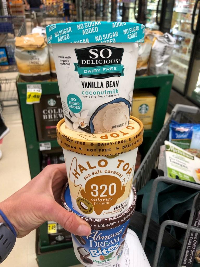Halo Top and So Delicious ice creams
