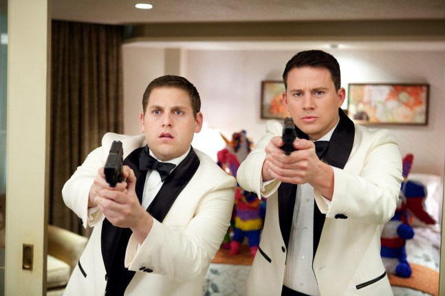 "Jonah Hill, left, and Channing Tatum in Columbia Pictures' ""21 Jump Street."""