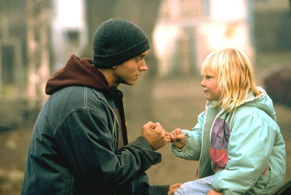 8 MILE, Eminem, Chloe Greenfield, 2002 (c) Universal.