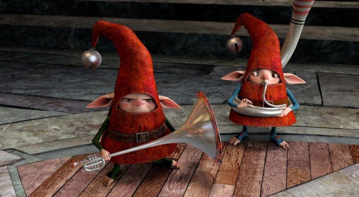 I poveri elfi del Babbo cercano di mettere su una cerimonia in grande stile e non sono contentissimi di venire interrotti