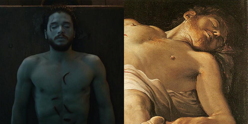Jon Snow e Olly - il trono di spade