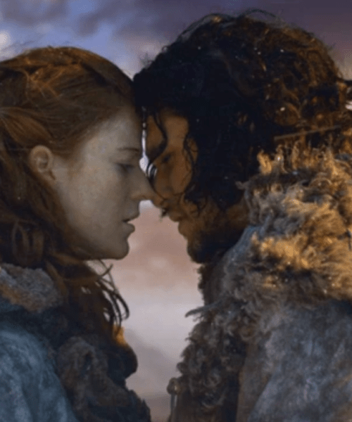 ygritte jon snow game of thrones trono di spade barriera gli amanti tarocchi