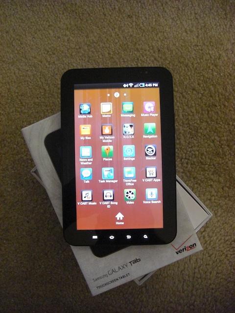 Samsung Galaxy Tab Apps 2 Screen