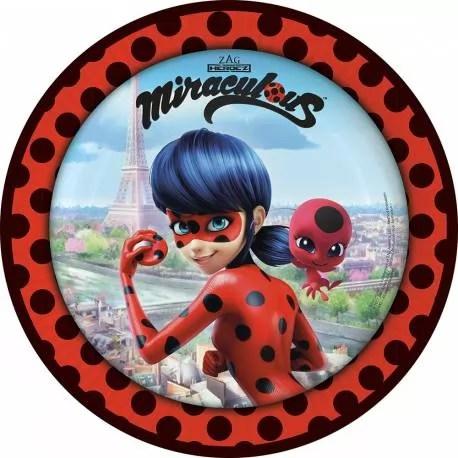 6 cartes d invitations ladybug miraculous
