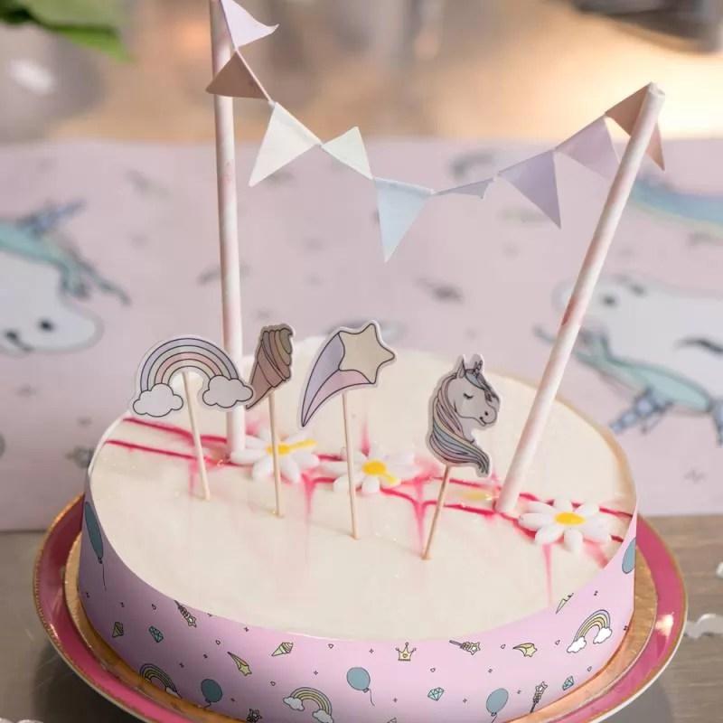 kit cake topper licorne