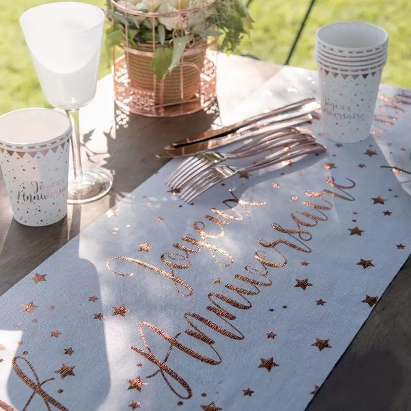 decoration de table rose