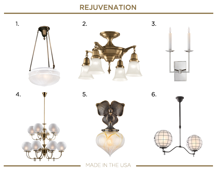 Made in the USA LIGHTING fixtures_REJUVENATION