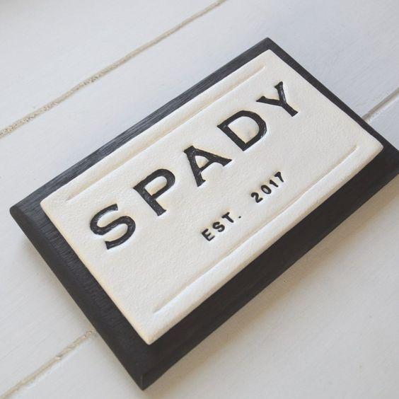 Family name plaque