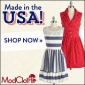 Modcloth, Womens Clothing, Jeans, Dresses, skirts, pants, handbags, accessories, Made in USA, Made in America, American made