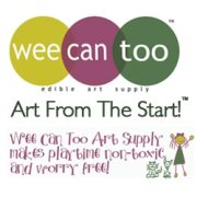Wee Can Too, Made in USA, Made in America, American made, recycle, ecofriendly, Organic, Natural and Edible Art Supplies for babies, toddlers, and young children. Veggie Baby Finger Paint, Veggie Baby Sidewalk Chalk, Veggie Baby Swirl Chalk, Veggie Tempera Paint, Nature's Magic Egg Kits, Veggie Baby Crayons