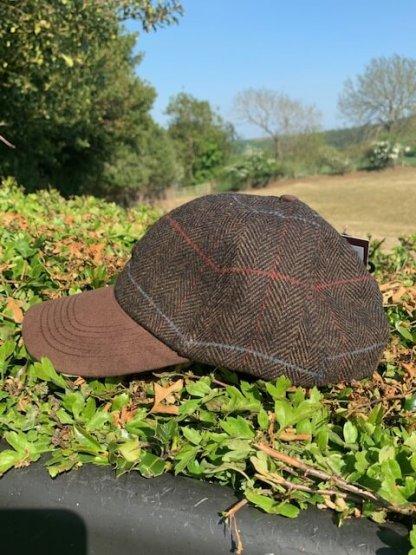 Brown Tweed Cap