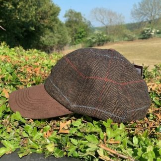 Brown Tweed Cap