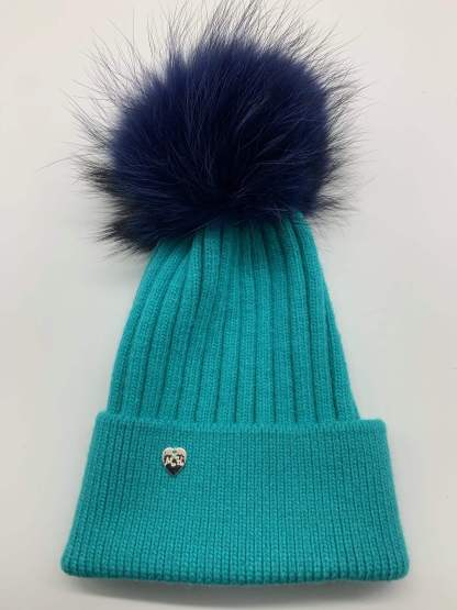 Fur Pom Pom Hat