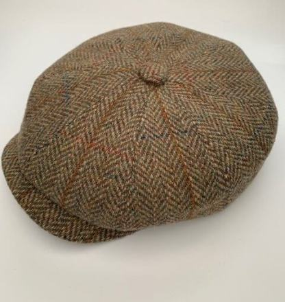 Green Tweed Newsboy Cap