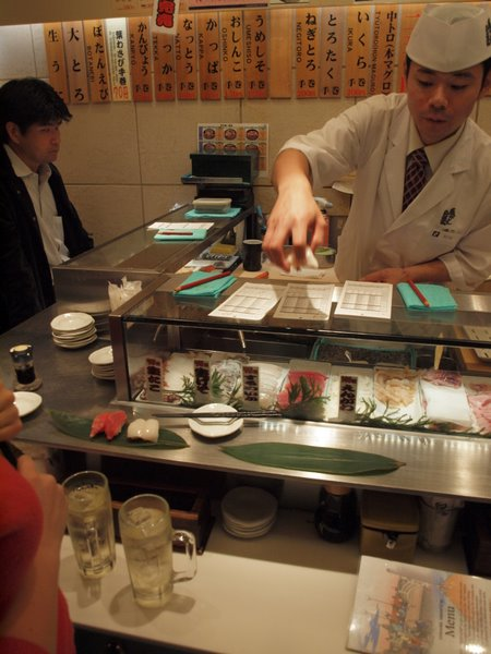 Stand Up Sushi bar in Tokyo