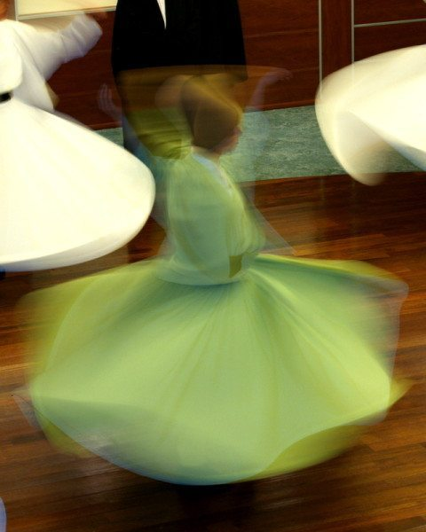 Woman whirling dervish