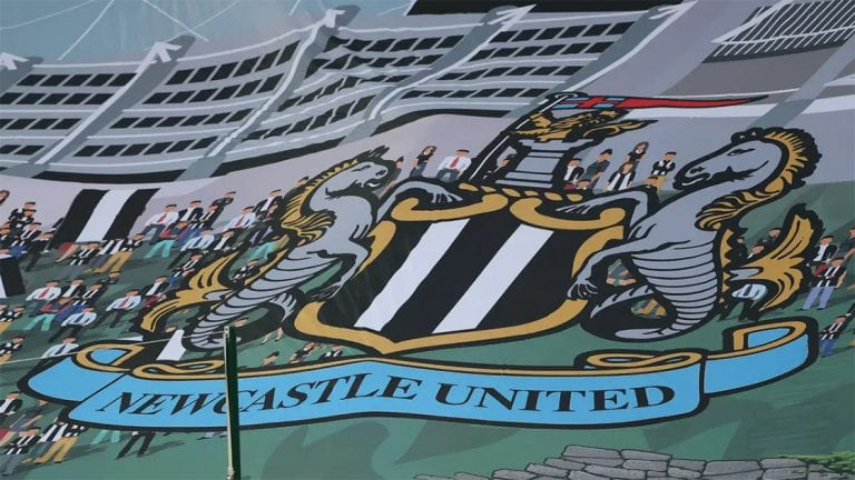newcastle united crest surfer flag