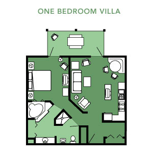 Disney S Hilton Head Island One Bedroom Villa Layout