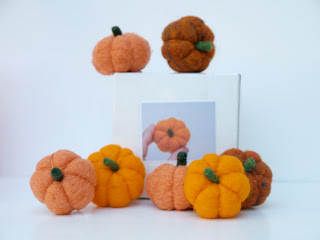 Needle Felting Kit, How to needle felt a pumpkin