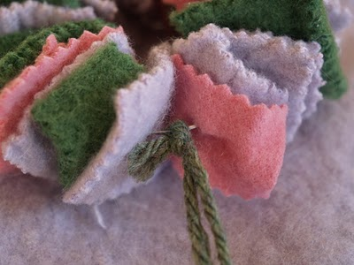 felted wool Christmas ornament