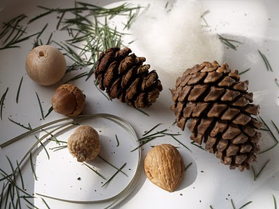 supplies needed to make a pine cone gnome Christmas ornament