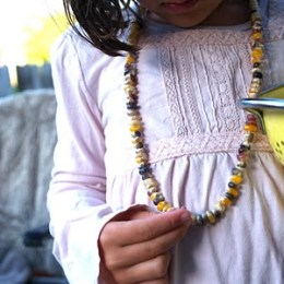 Let's make a Harvest Corn Necklace.