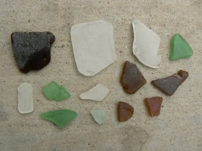 Frosty sea glass