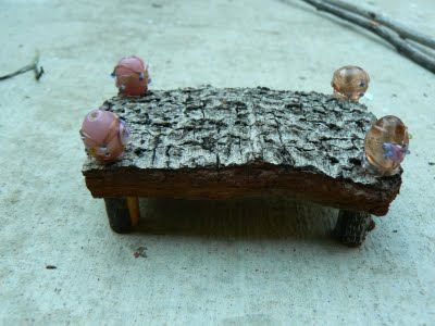 Magical beads to embellish our fairy bed