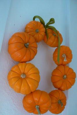 Our pumpkin Halloween door wreath