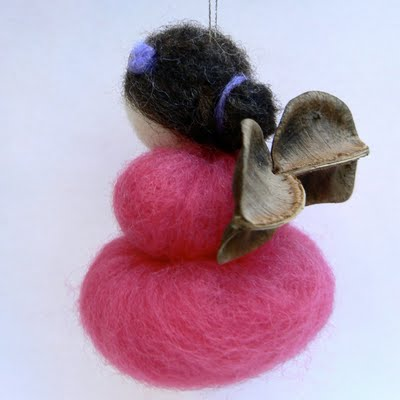 Needle Felted wool Christmas Tree Fairy ornament decoration