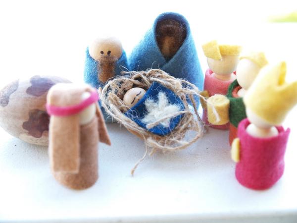 Felt Peg Doll Nativity Set