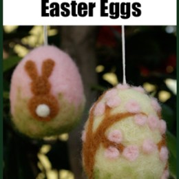 Make A Needle Felted Easter Egg :: Felting Tutorial