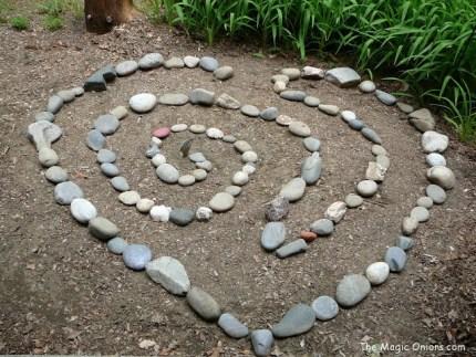 Garden Art with River Rocks