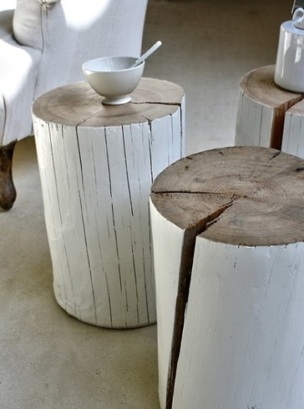 Tree Stump Side Tables : www.theMagicOnions.com
