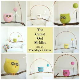 Felted Owl Mobiles