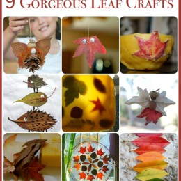 9 Fun Crafts using Autumn Leaves