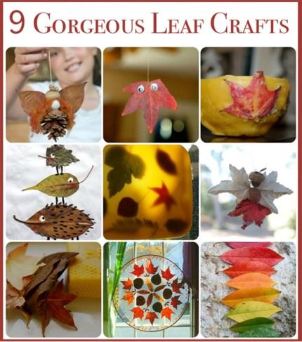 Leaf Crafts : www.theMagicOnions.com