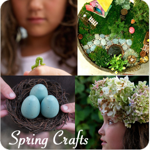 Spring Crafts from The Magic Onions : www.theMagicOnions.com