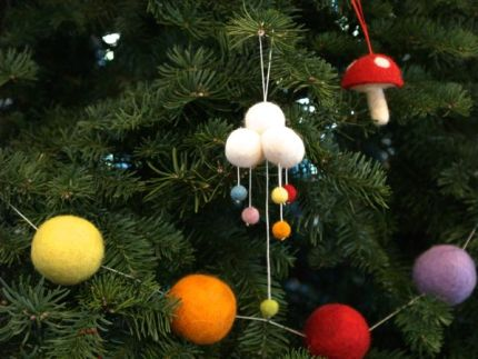 Needle Felted Rain Cloud Ornament : www.theMagicOnions.com