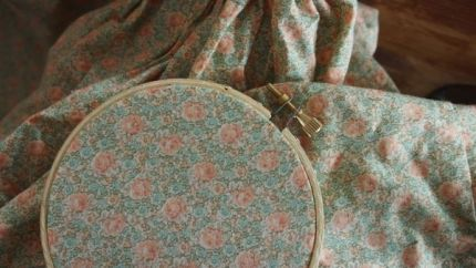 Hoop Art from Favorite Baby Colthes : www.theMagicOnions.com