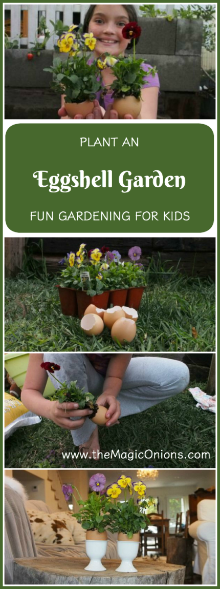 Plant an EGGSHELL GARDEN. This is such a fun gardening activity for KIDS. And, the flowers in the eggshells look so CUTE!